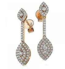 Diamond Drop Marquise Earrings 0.80ct F VS in 18ct Rose Gold