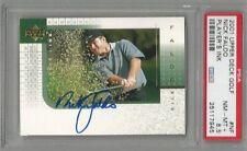 2002 Upper Deck Golf Nick Faldo Player's Ink PSA 8.5
