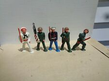 Vintage Manoil Barclay, Toy Made In USA , lot of 5 flag bearer soldier navy, jj