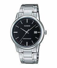 LTP-V002D-1A Black Casio Ladies Watches Steel Band Analog New