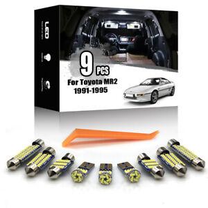9x For Toyota MR2 1991-1995 Car Interior LED Lighting Kit Canbus + TOOL