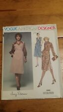 VINTAGE VOGUE JERRY SILVERMAN LADIES DRESS PATTERN 1580 SIZE 10 FREE SHIPPING