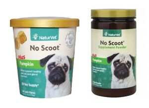No Scoot Healthy Dog Digestive Tract Plus Pumpkin Supplement Powder or Soft Chew