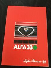 Alfa Romeo Alfa 33 Cloverleaf Car Brochure
