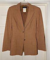Piazza Sempione Italy sz 38 Brown Small Check Blazer Jacket