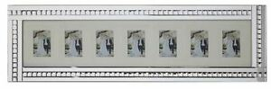 Mirrored Glass Sparkly Crystals silver 7 wall Photo Frame/6X4 7X5 8X6 photos