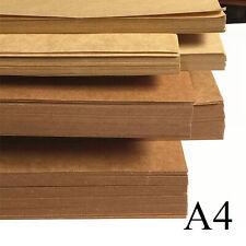 400gsm Thick 10/20/50pcs A4 Brown Kraft Paper DIY Handmake Card Making Craft