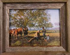 Western Print Titled Cowboy Church Framed In A Barnwood Frame