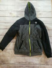 SHAUN WHITE HOODIE Quilted Jacket Coat Pockets Lime Green Size XL Full Zip