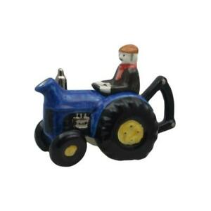 Farm Tractor Teapot Blue One Cup Carters of Suffolk Birthday Christmas Gift