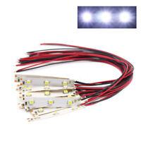 DD01W 10pcs Pre Wired White Strip Led Light Self-adhesive Flexible 12V ~ 18V