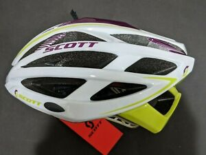 """Scott Wit-R Women Bike Helmet Large 23.25 - 24"""" White/Purple/Lime. New With Tag"""