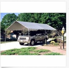 Carport Canopy Truck Car Shelter Snow Sun Rain Garage Cover 6 Leg 10' X 20' Tent