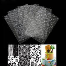 6pcs Different Texture Mat Fondant Cake Molds Impression Mat DIY Cake Decor LE