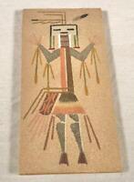 NATIVE AMERICAN INDIAN NAVAJO KACHINA HEALING GOD SAND ART WALL PLAQUE