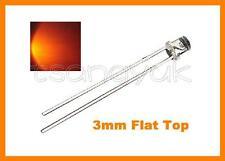 50 Orange 3mm Flat Top LED Free Resistors