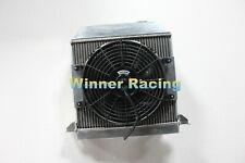 Fit Morgan Plus 4 / +4 1964 - 1968 Full aluminum radiator + Fan mounting + Fan