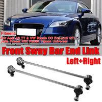 Pair Front Stabiliser Anti Roll Bar Drop Link For VW Golf Beetle Jetta Passat