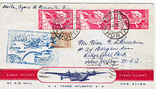 HORTA FIRST FLIGHT  COVER HORTA- MARSEILLE-U.S.A