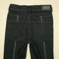 Express High Rise Legging Skinny Jeans Women's Size 00 Black Stretch Denim