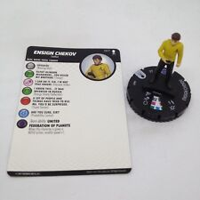 Heroclix Star Trek Away Team set Ensign Chekov #007 Common figure w/card!