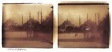 Constantinople Turquie Plaque stéréo Occupation française 1921