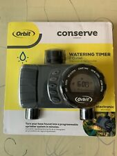 Digital Hose Water Timer 2 Outlet for Sprinkler System Watering Schedule Gray