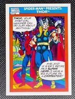 1990 Impel Marvel Universe #154 Spider-Man Presents Thor Pack Fresh Centered