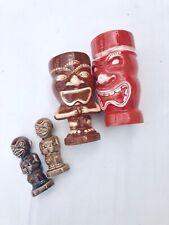 Vtg Tiki Mug And Salt Pepper Shakers Set 4 Piece Lot