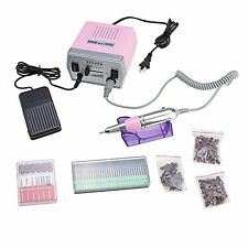 IMAGE Pink 30000 RPM Nail Art File Elec Drill Machine Kit for Acrylic Glass or S