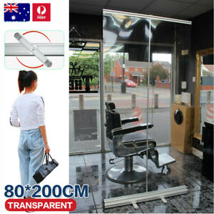Sneeze Guard 80 x 200cm Acrylic Screen w/ white base Counter Protection Safe