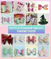 10 Hair Bow Cut plastic templates random bundle bow shapes