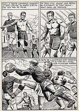 FINALE DE COUPE FOOTBALL (ROBERT HUGUES) PLANCHE ORIGINALE PILAR SANTOS PAGE 24