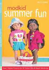 """Modkid SUMMER FUN Sew 7 Projects for 18"""" Dolls Instruction Book + Patterns"""