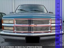 GTG 1994 - 1999 Chevy Tahoe Suburban Silverado 2PC Polished Billet Grille Kit
