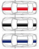 Dekorstreifen Rallye für alle Fahrzeugtypen - ca. 20 cm breit - 398 cm lang