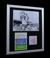 BOLTON WANDERERS 1958 FA Cup LIMITED Numbered FRAMED+EXPRESS GLOBAL SHIPPING