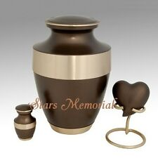 Golden Band Brass Cremation Urn,Funeral Urn Brass~Free Shipping