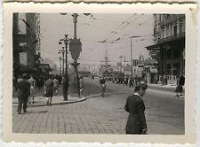 PHOTO ANCIENNE - VINTAGE SNAPSHOT - MARSEILLE LA CANEBIÈRE BATEAU TRAMWAY 1948