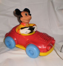 Disney Mickey Mouse Pull-Mee Car Konner Body Turns COOL