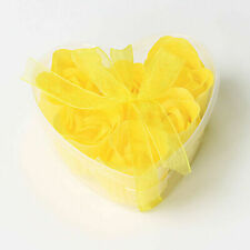Scented Rose Flower Petal Bath Body Soap Wedding Party Gift Heart Box Flowers