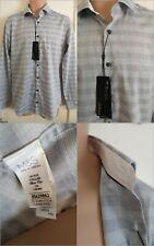"Men's M & S Autograph Tailored Fit Longsleeve Shirt Grey Size 15"" Collar BNWT F1"