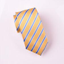 "Blue Striped Skinny Tie Mens 3"" Yellow Necktie Sexy Fashion Business Fashion B2B"