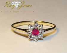 Band Ruby Not Enhanced Yellow Gold Fine Rings