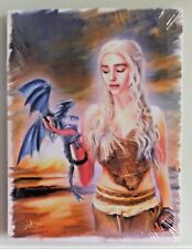 DAENERYS TARGARYEN and Baby Dragon Game of Thrones painting by AFox  on Canvas