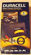 Duracell 6 Amp Battery Charger / Maintainer Quick Connect Free Ship