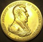 Gem Unc Andrew Jackson Presidential Bronze Inauguration Medallion~Free Shipping