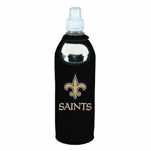 New Orleans Saints 1/2 Liter Water Soda Bottle Beverage Insulator Holder Cooler