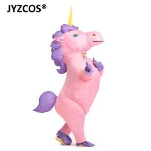 Inflatable Unicorn Costume for Girl Women Men Blow Up Party Halloween Fancy Suit