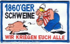 "Anti 1860 Aufnäher ""WIR KRIEGEN..."" Kutte Weste Fan Patch Block Kurve + neu +"